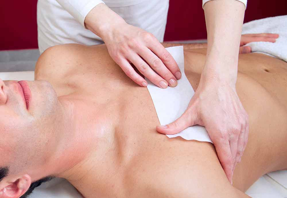 waxing-chest